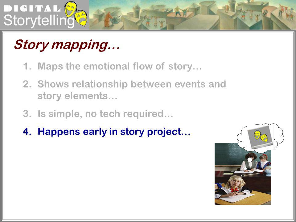 Story mapping… Maps the emotional flow of story…
