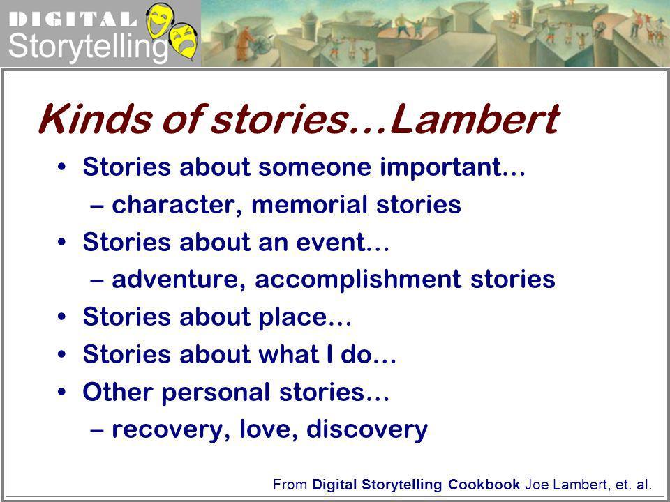 Kinds of stories…Lambert