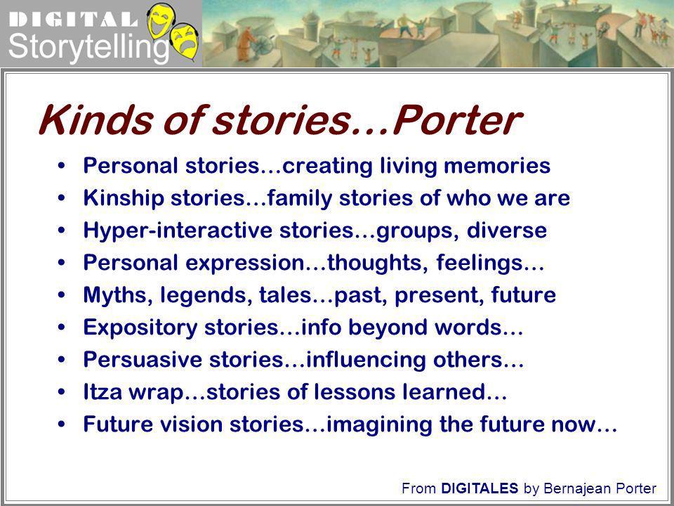 Kinds of stories…Porter