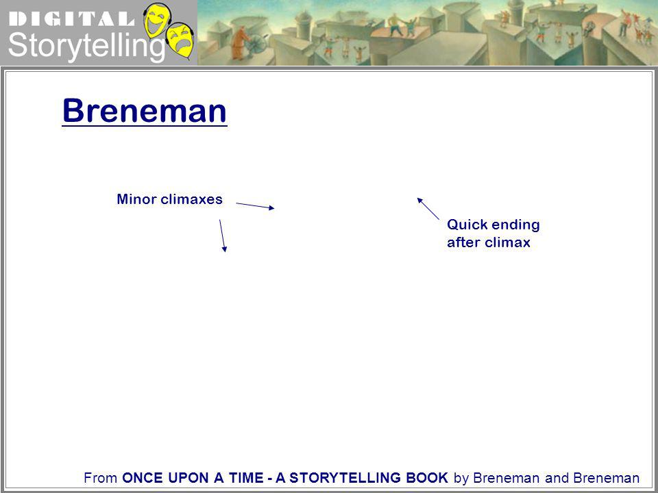 Breneman Minor climaxes Quick ending after climax