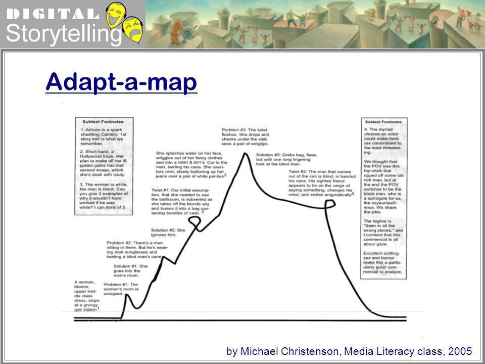 Adapt-a-map by Michael Christenson, Media Literacy class, 2005