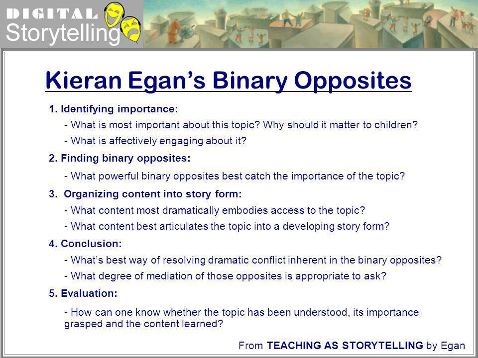 Kieran Egan's Binary Opposites