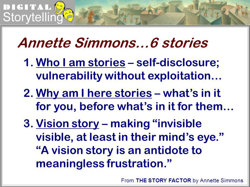 Annette Simmons…6 stories