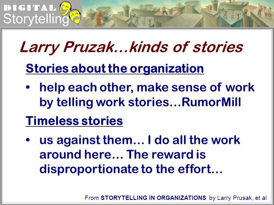 Larry Pruzak…kinds of stories