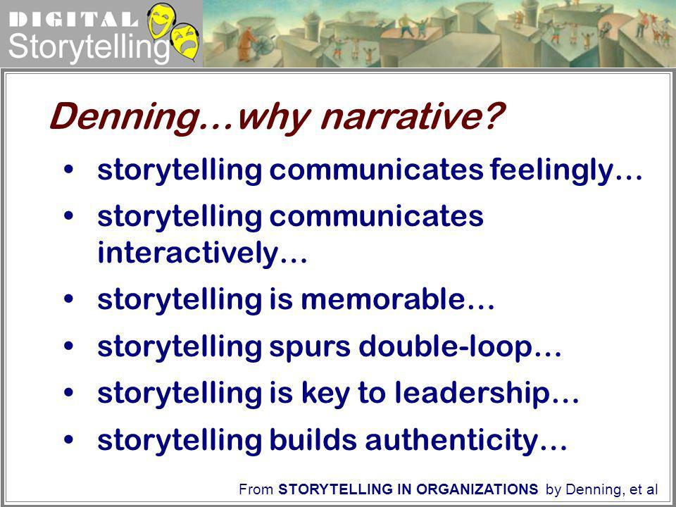 Denning…why narrative