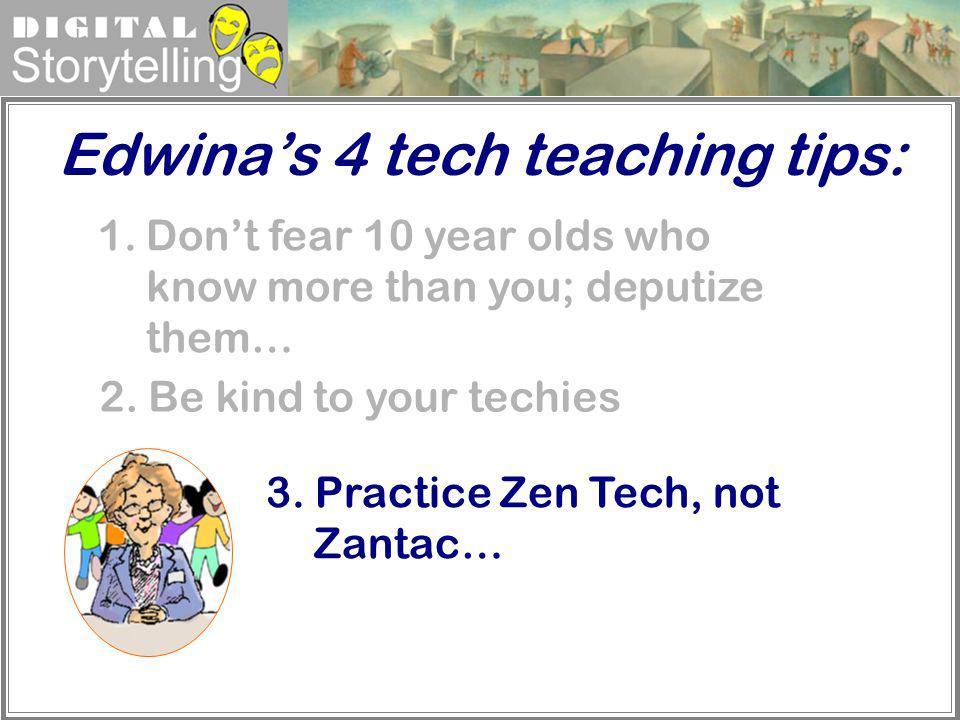 Edwina's 4 tech teaching tips: