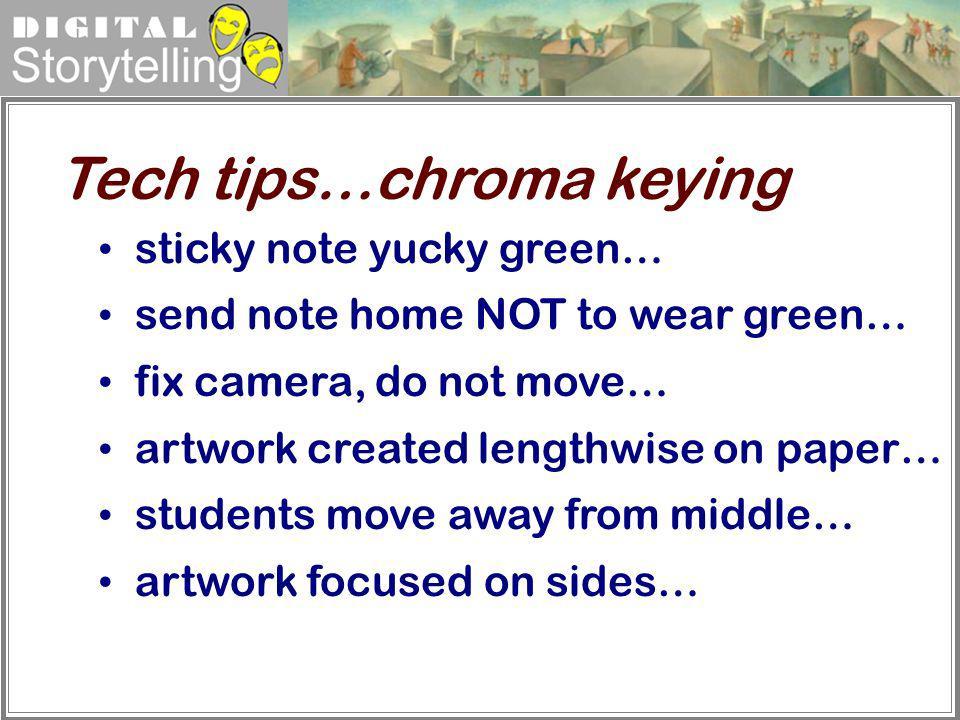 Tech tips…chroma keying