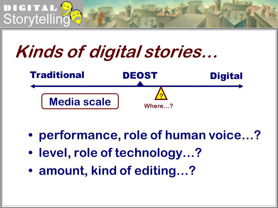 Kinds of digital stories…