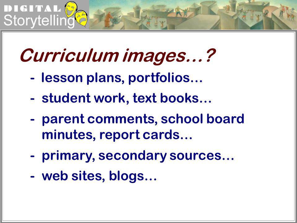 Curriculum images… - lesson plans, portfolios…