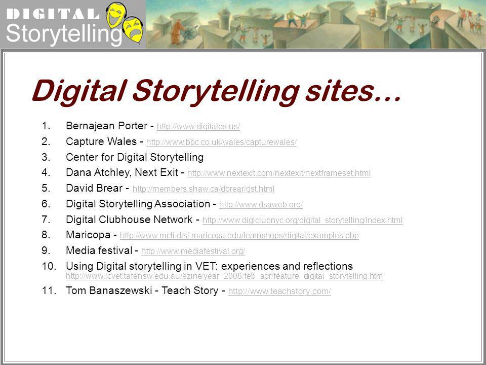 Digital Storytelling sites…