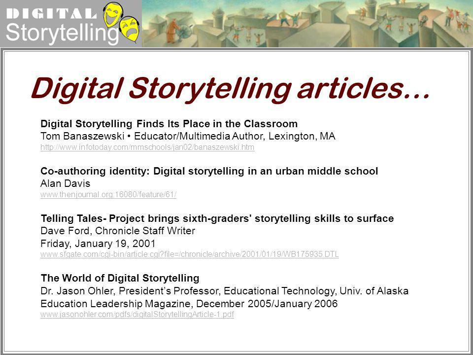 Digital Storytelling articles…