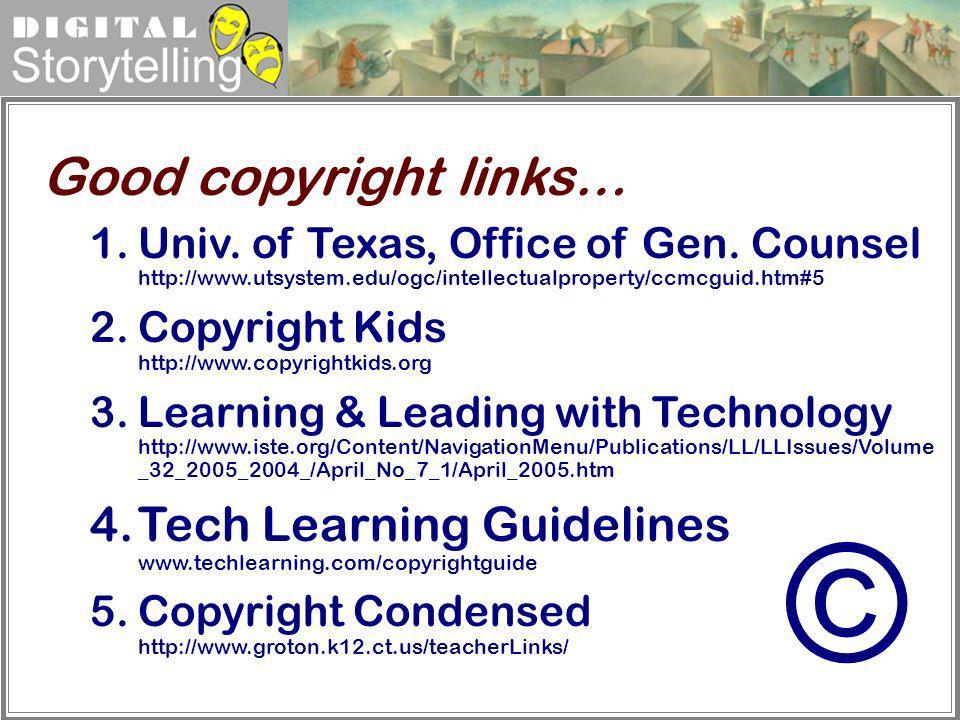 © Good copyright links…