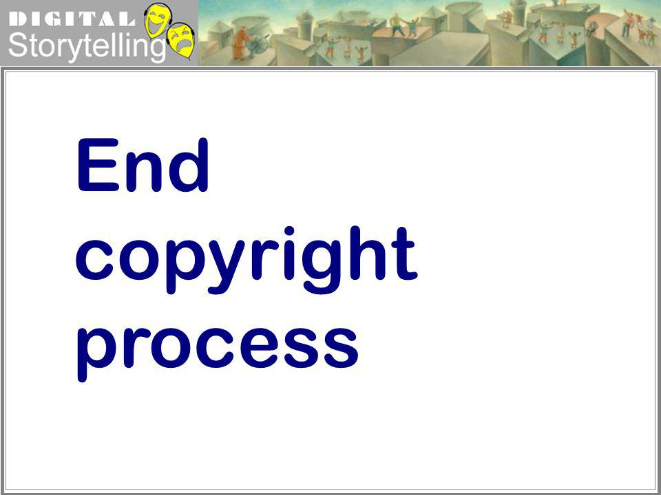 End copyright process