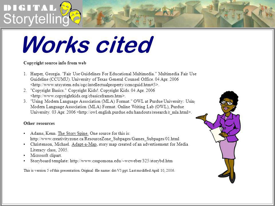 Works cited Copyright source info from web