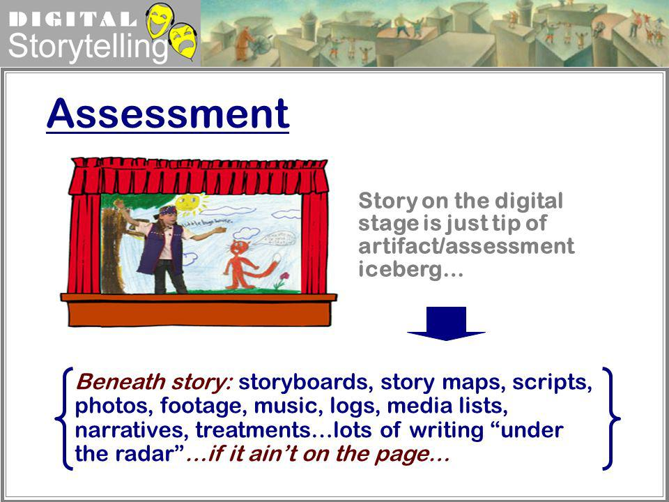 Assessment Story on the digital stage is just tip of artifact/assessment iceberg…