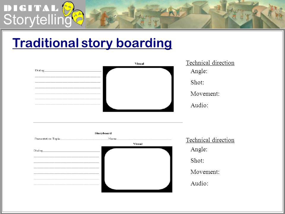 Traditional story boarding