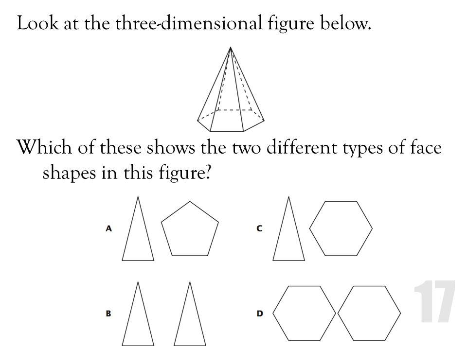 Look at the three-dimensional figure below.