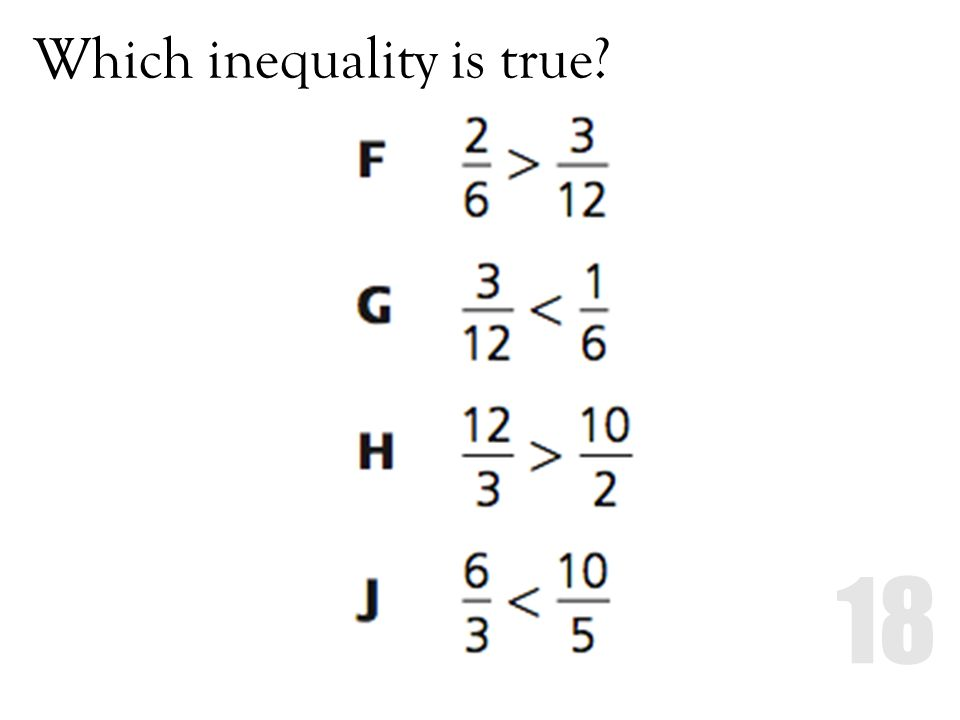 Which inequality is true