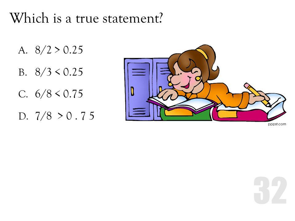 Which is a true statement