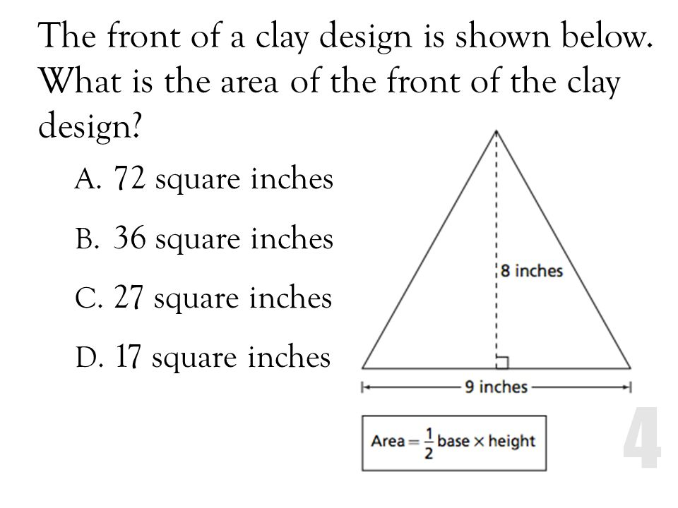 The front of a clay design is shown below