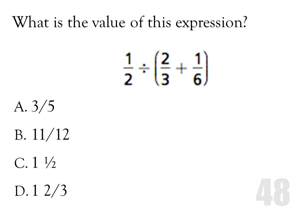 What is the value of this expression