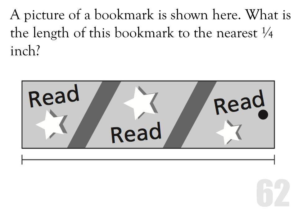 A picture of a bookmark is shown here