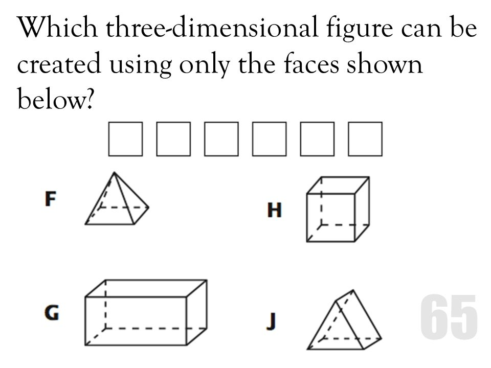 Which three-dimensional figure can be created using only the faces shown below