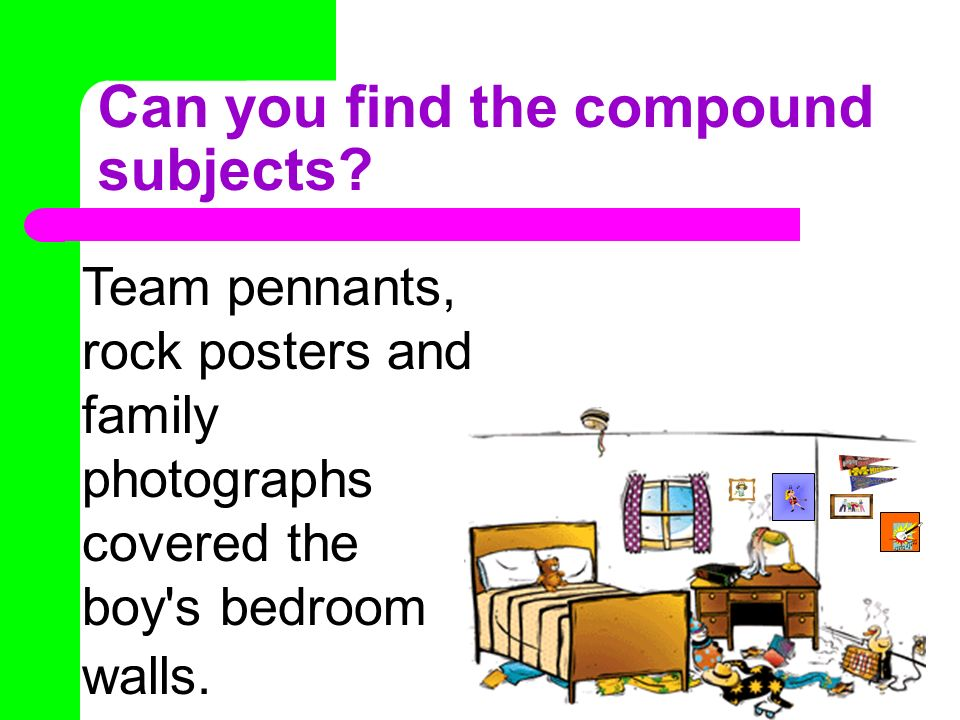Can you find the compound subjects