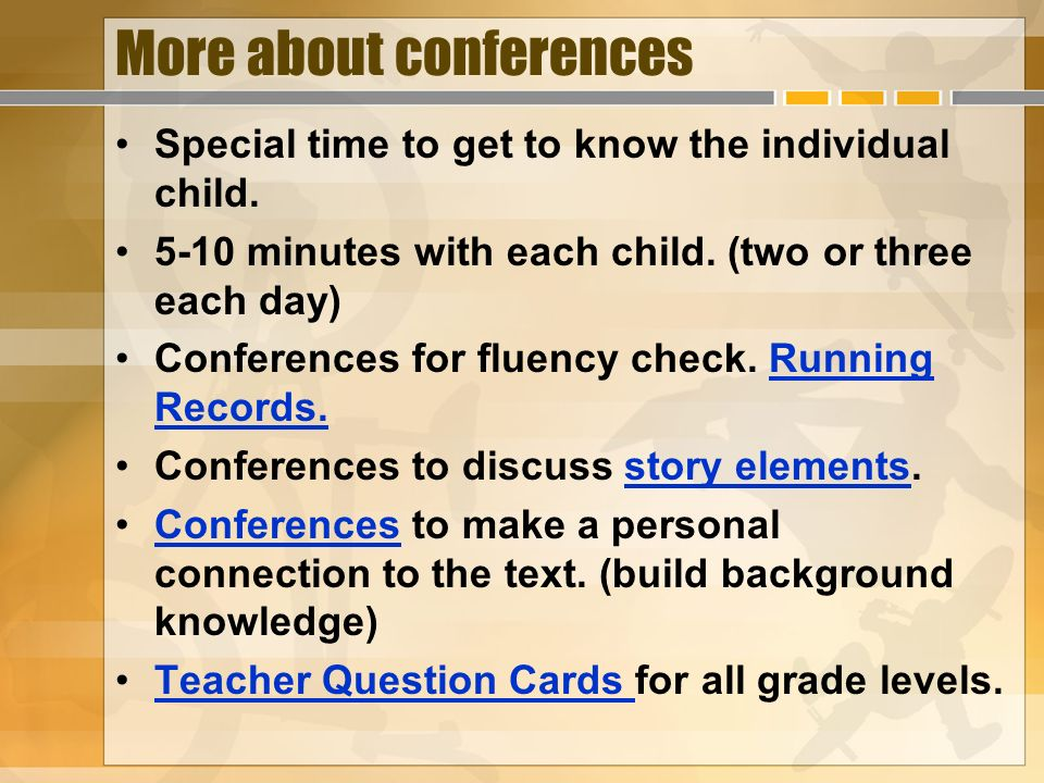 More about conferences