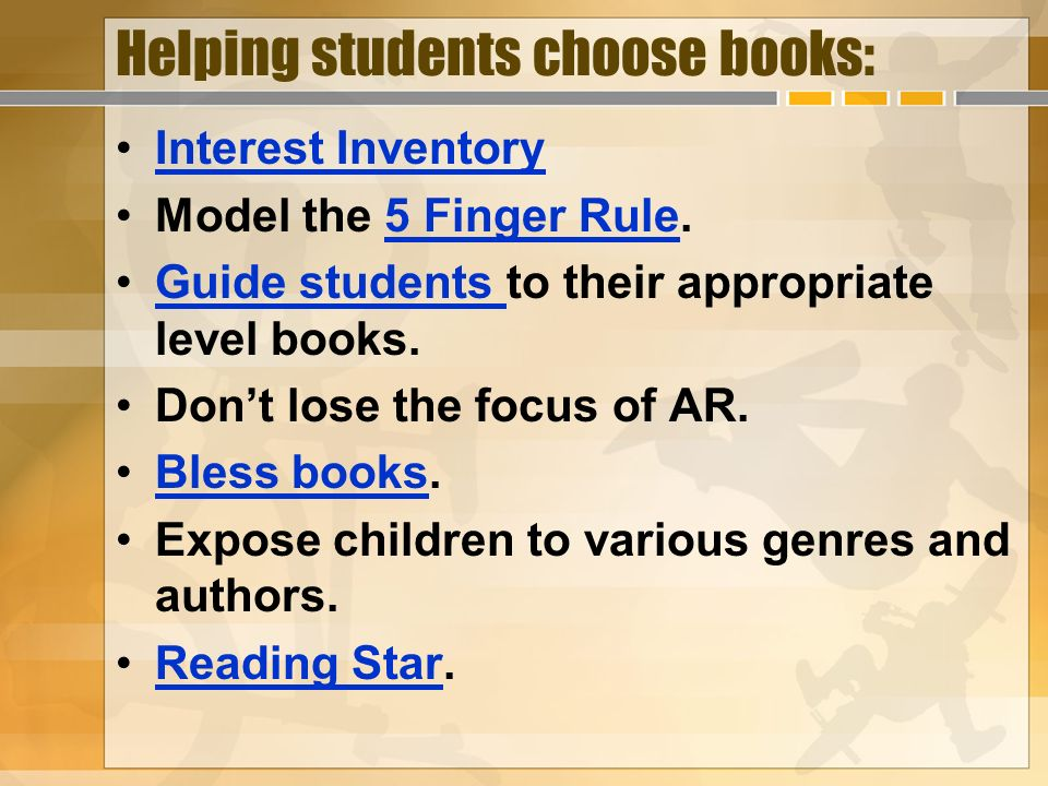 Helping students choose books: