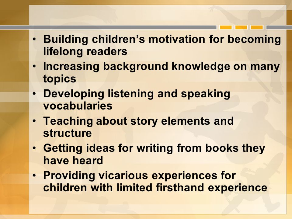 Building children's motivation for becoming lifelong readers