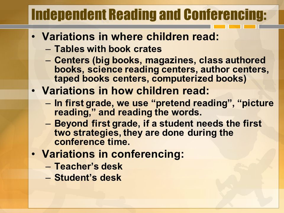 Independent Reading and Conferencing: