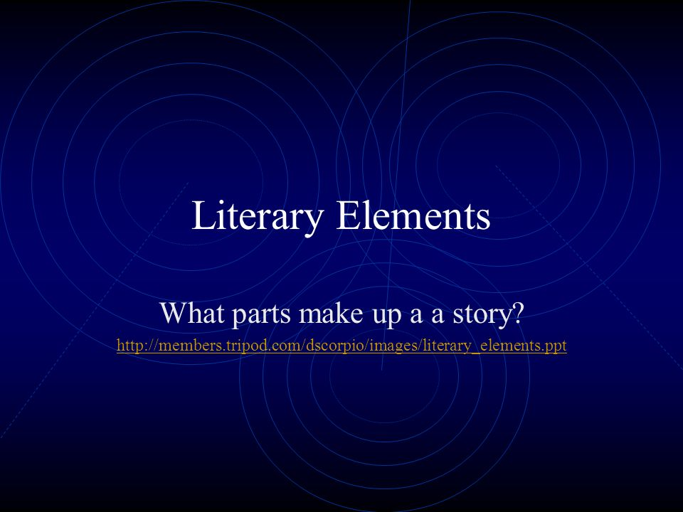 What parts make up a a story