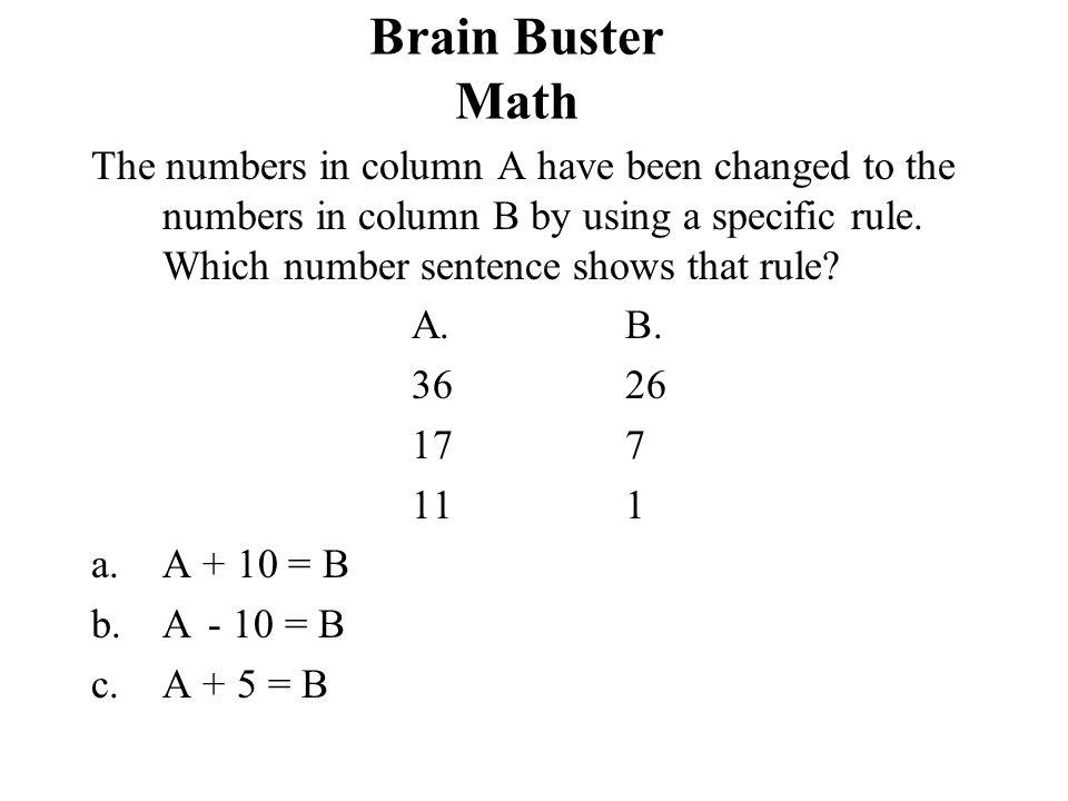 Brain Buster Math