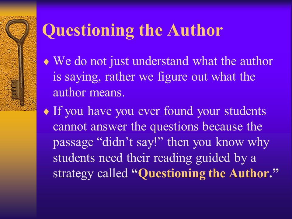 Questioning the Author