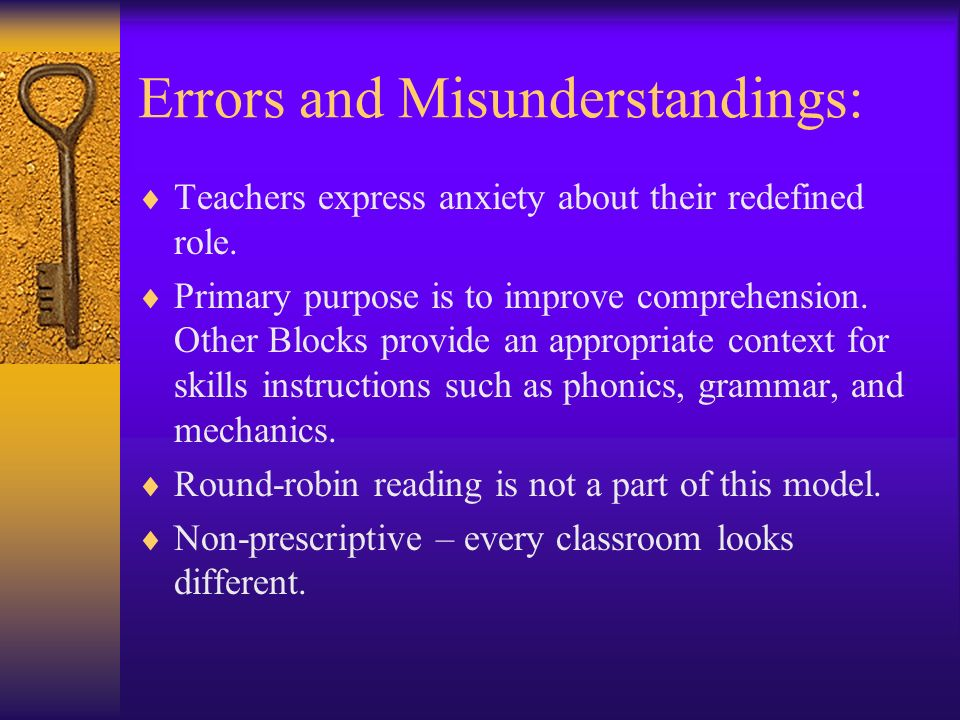 Errors and Misunderstandings: