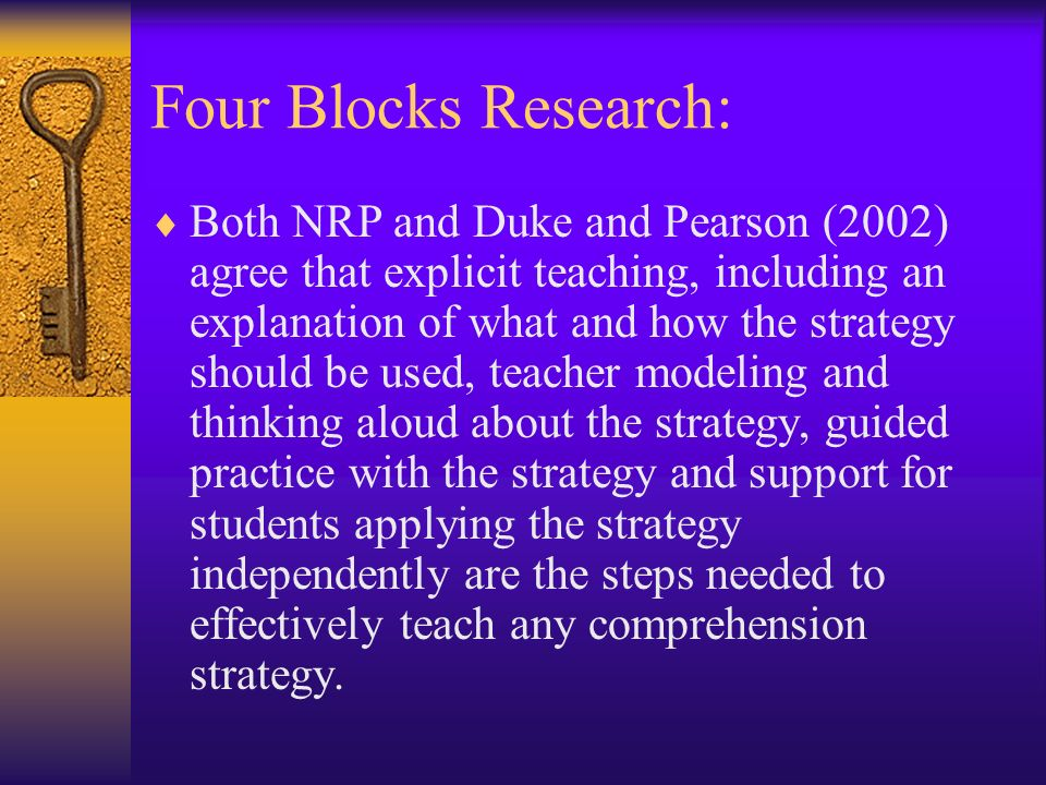 Four Blocks Research: