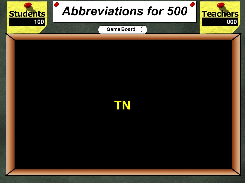 What is the correct abbreviation for Tennessee