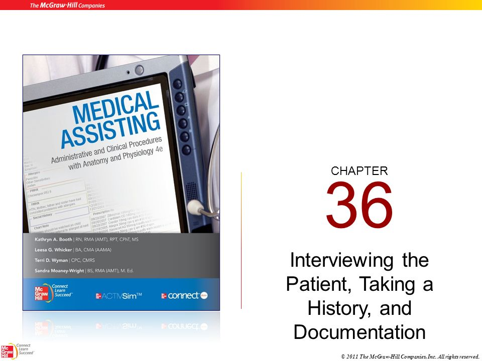 Interviewing the Patient, Taking a History, and Documentation - ppt ...