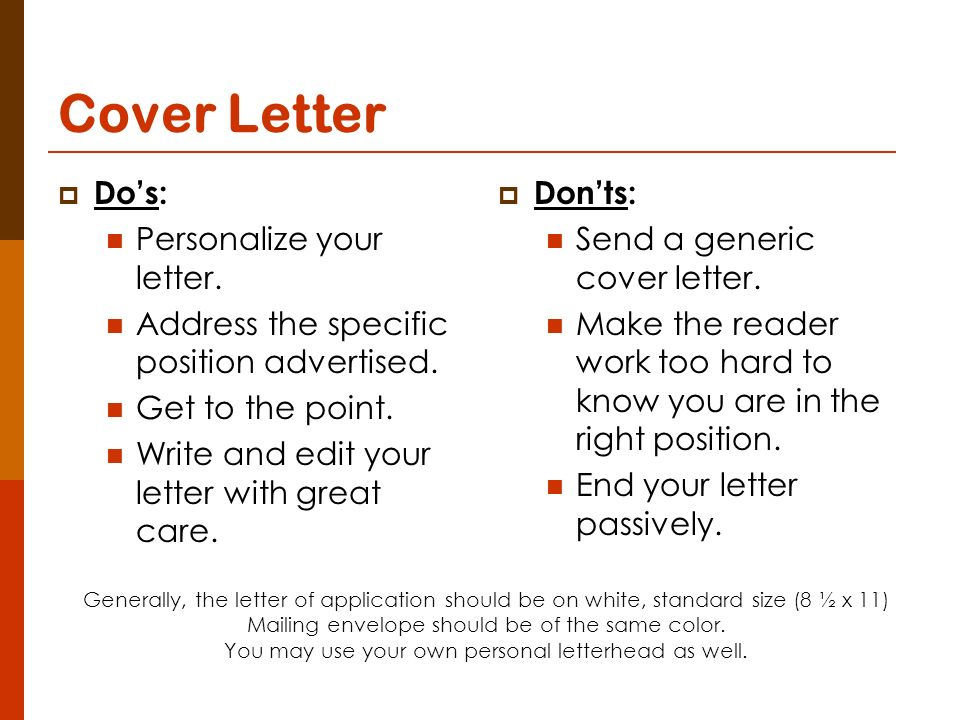 12 Cover Letter Dou0027s: Personalize ...