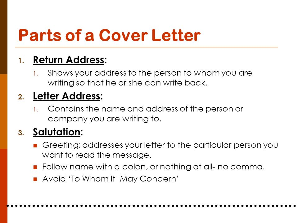 Planning for your career ppt video online download for To whom should i address a cover letter