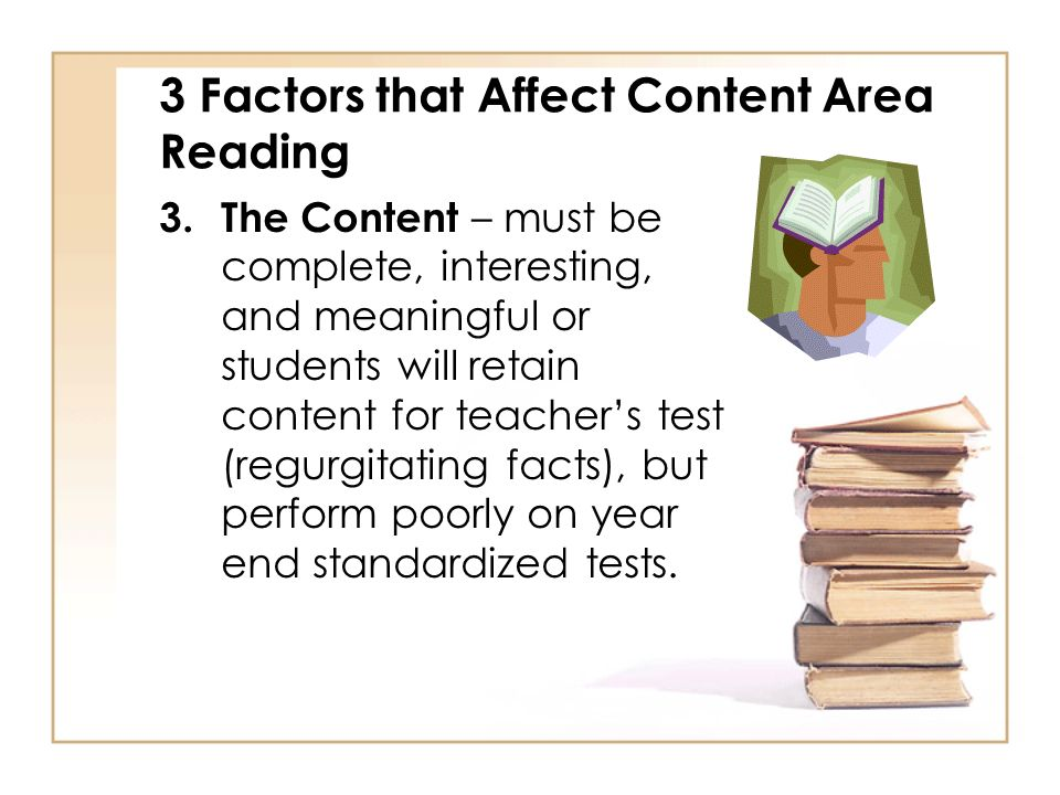 3 Factors that Affect Content Area Reading