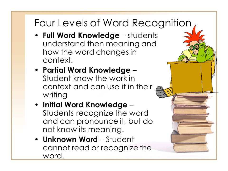 Four Levels of Word Recognition