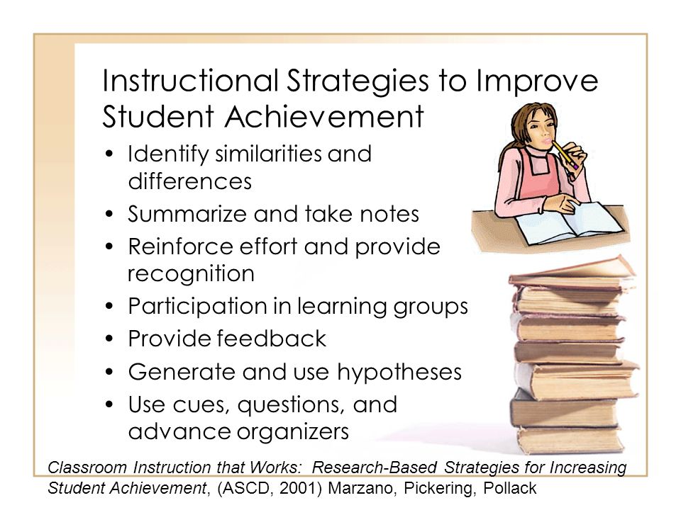 Instructional Strategies to Improve Student Achievement
