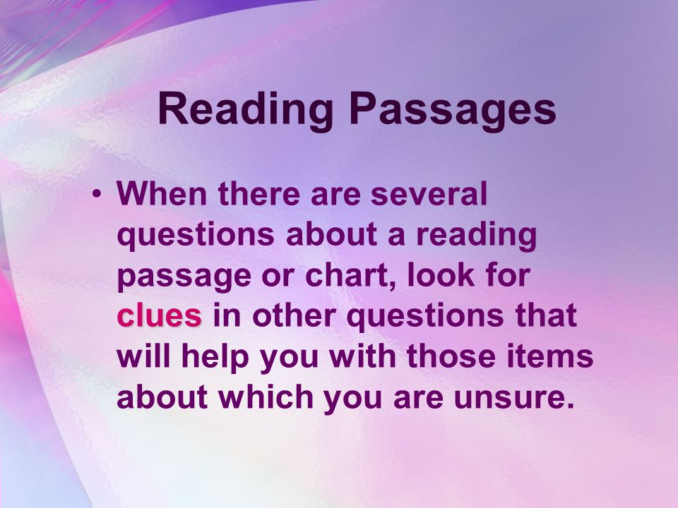 Reading Passages