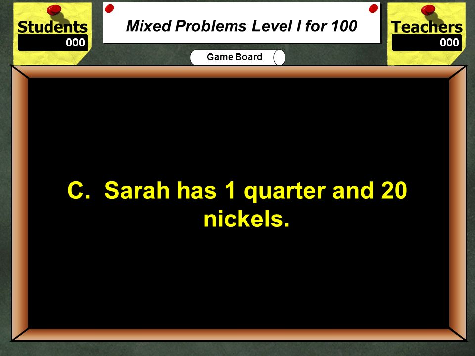 Mixed Problems Level I for 100
