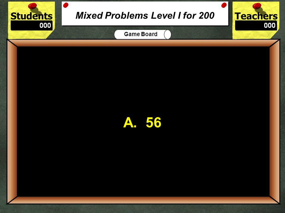 Mixed Problems Level I for 200