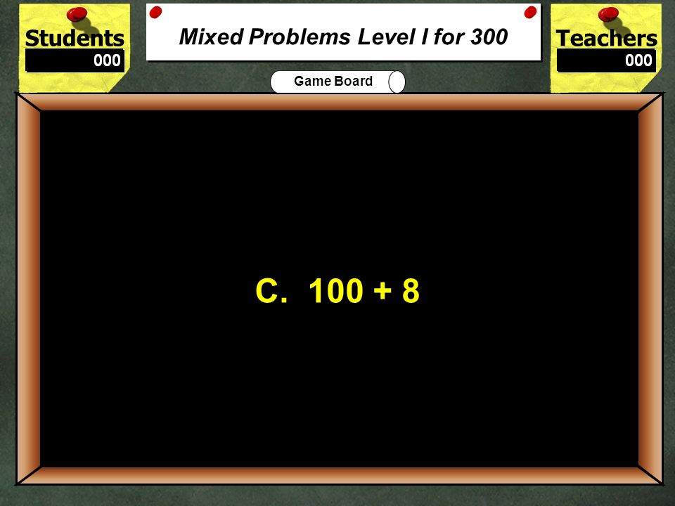 Mixed Problems Level I for 300