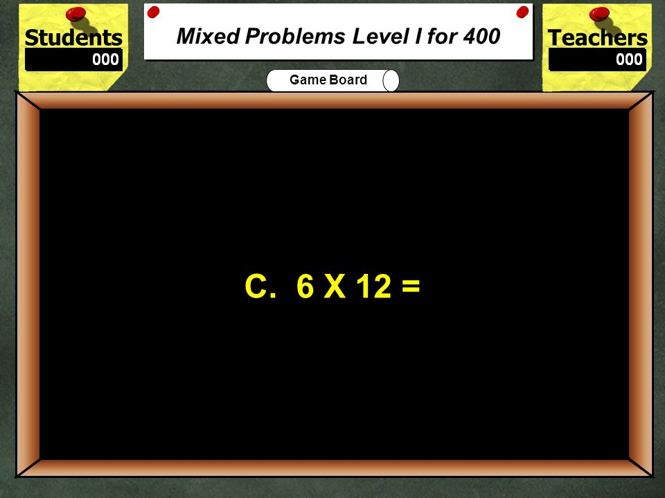 Mixed Problems Level I for 400