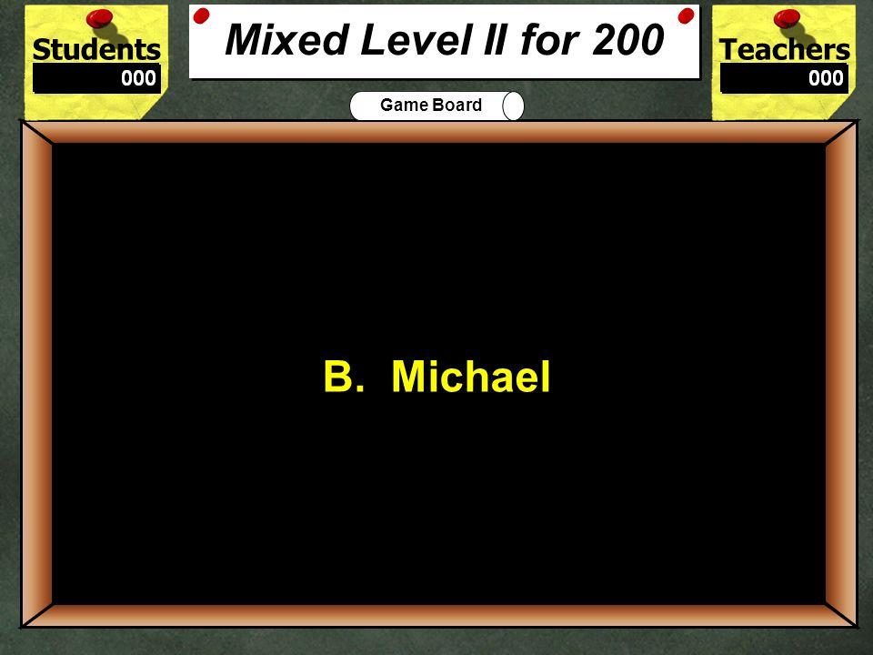 200 Mixed Level II for 200 B. Michael